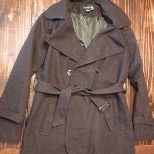 Chocolate Brown Pea Coat